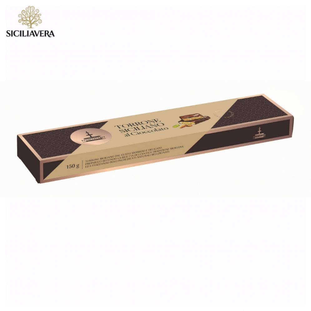 Torrone Siciliano al cioccolato Fiasconaro gr 150